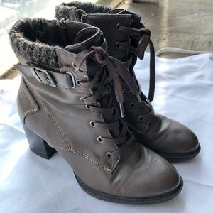 Bass Leather Heeled Boots